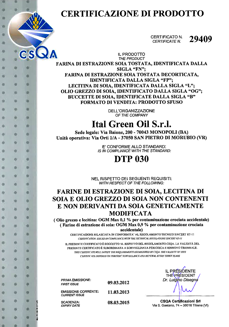 DTP030 Ital Green oil 2013